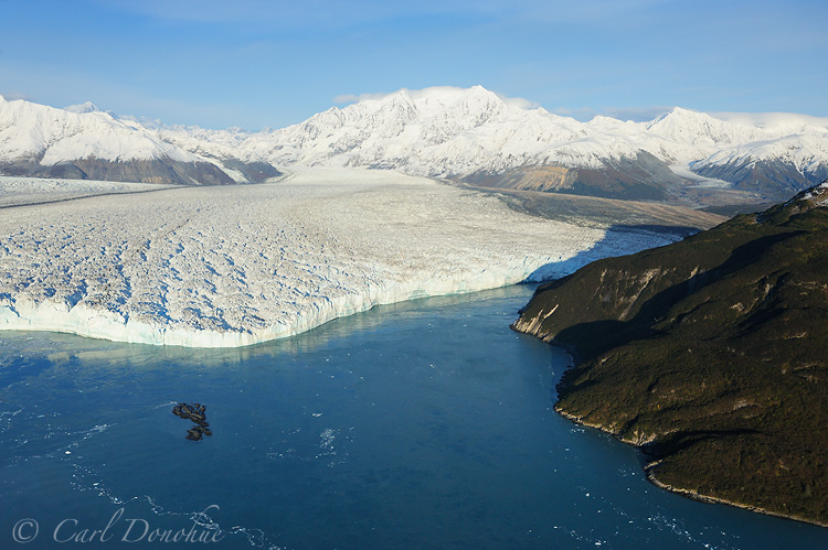 Hubbard Glacier and Gilbert Point, St. Elias Mountains, Wrangell - St. Elias National Park and Preserve, Alaska.