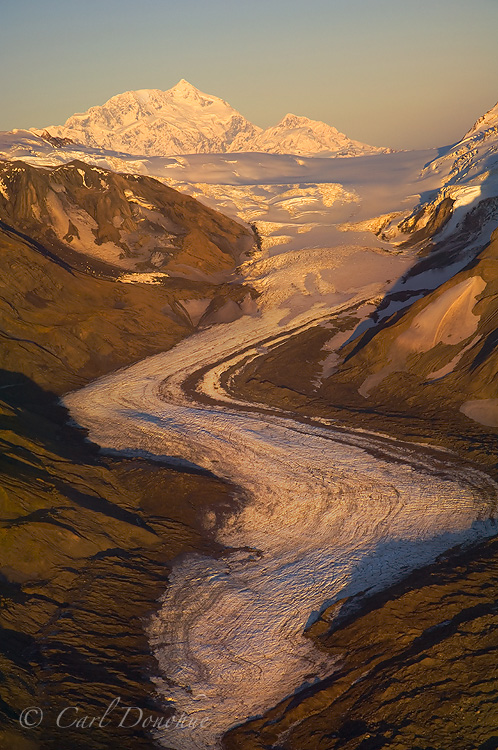 Mt. Saint photo, and glacier, Wrangell - St. Elias National Park and Preserve, Alaska.