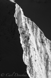 An aerial photo of an unnamed mountain in the St. Elias Range.