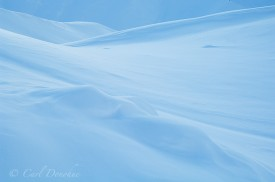 Abstract photo of snow patterns, Wrangell St. Elias Park, Alaska.
