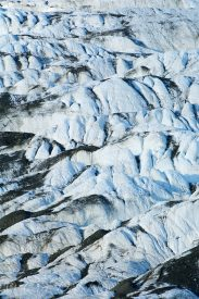 Crevasses cover the surface of Russell Glacier, Wrangell St. Elias National Park, Alaska.