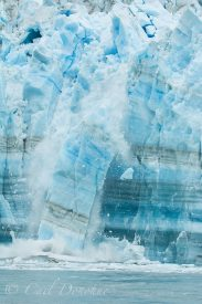 Ice calving on the Hubbard Glacier near Gilbert Point. Hubbard Glacier, Wrangell St. Elias National Park, Alaska.