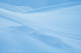 Snow covered ridges and hills, winter, Wrangell - St. Elias National Park, Alaska.