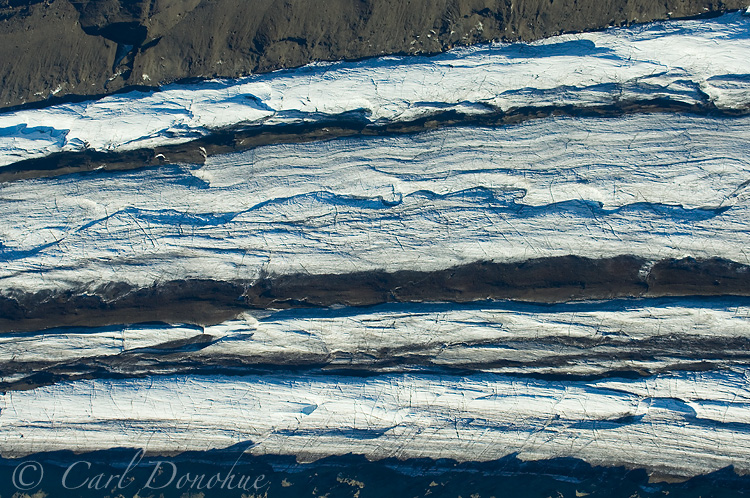 Aerial view of Gates Glacier, near Kennicott.
