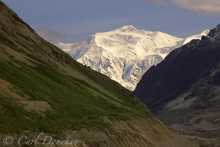 Mount George and the Chitina Glacier, Wrangell-St Elias National Park, Alaska.